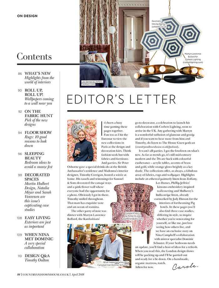 Country & Town House - April 2019