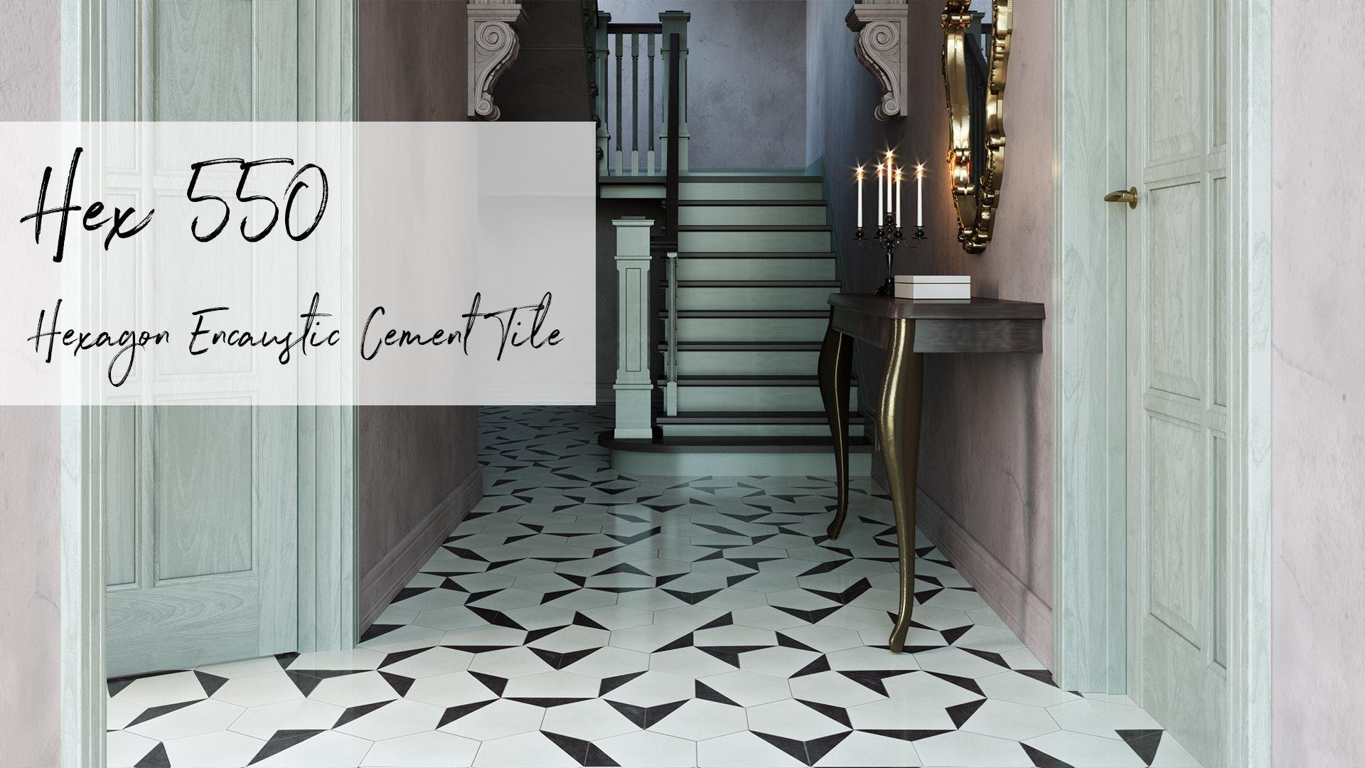 Hex550 Encaustic Cement Tile