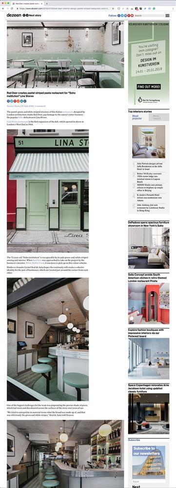 Dezeen Magazine – July 2018