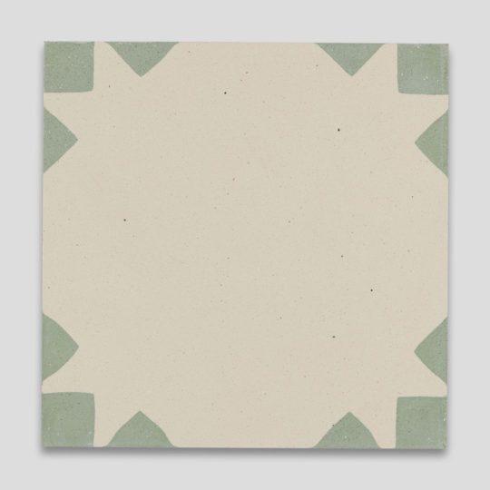 Anthropology Green Encaustic Cement Tile
