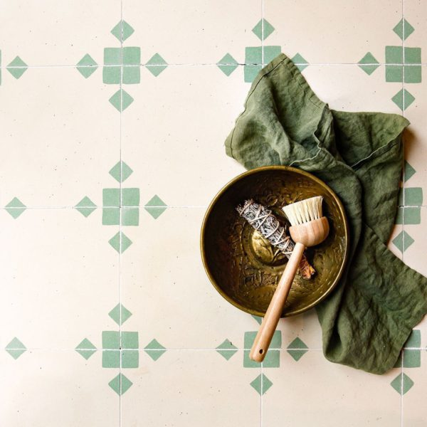 Anthropology Green Encaustic Cement Tile