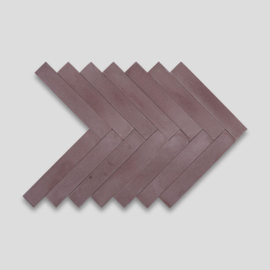 Aubergine Herringbone Encaustic Cement Tile