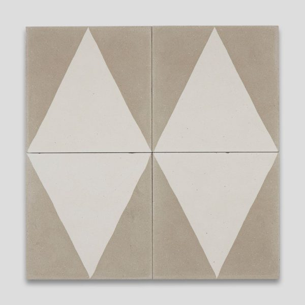 Beige Pyramid Encaustic Cement Tile
