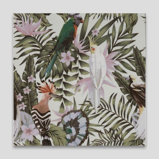 Birds Printed Ceramic Tile