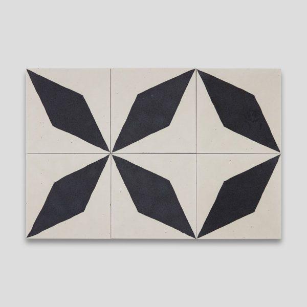 Black Diamond Encaustic Cement Tile