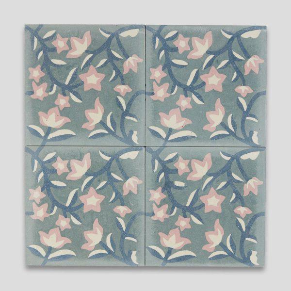 Blue Ivy Encaustic Cement Tile