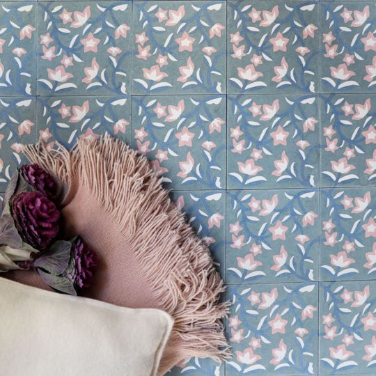 Blue Ivy Encaustic Cement Tile