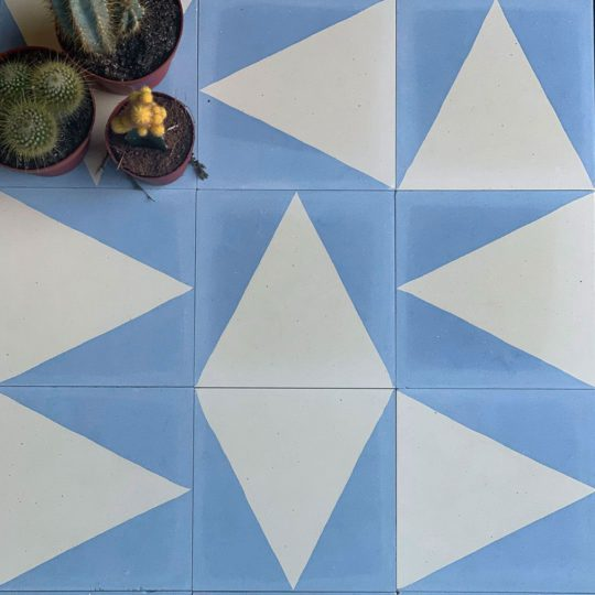 Blue Pyramid Encaustic Cement Tile