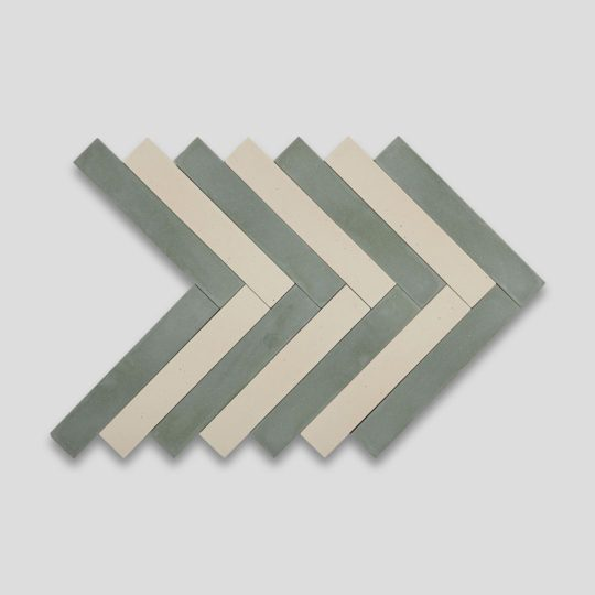Bosco Cream Herringbone Encaustic Cement Tile