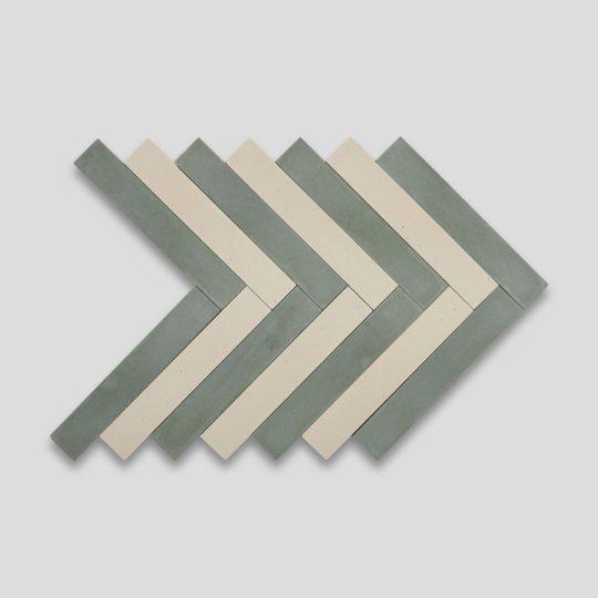 Bosco Cream Herringbone Encaustic Cement Tile