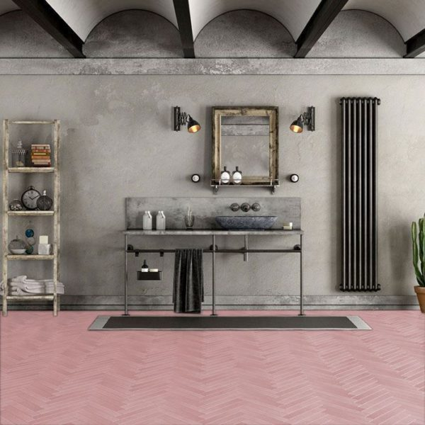 Candy Herringbone Encaustic Cement Tile
