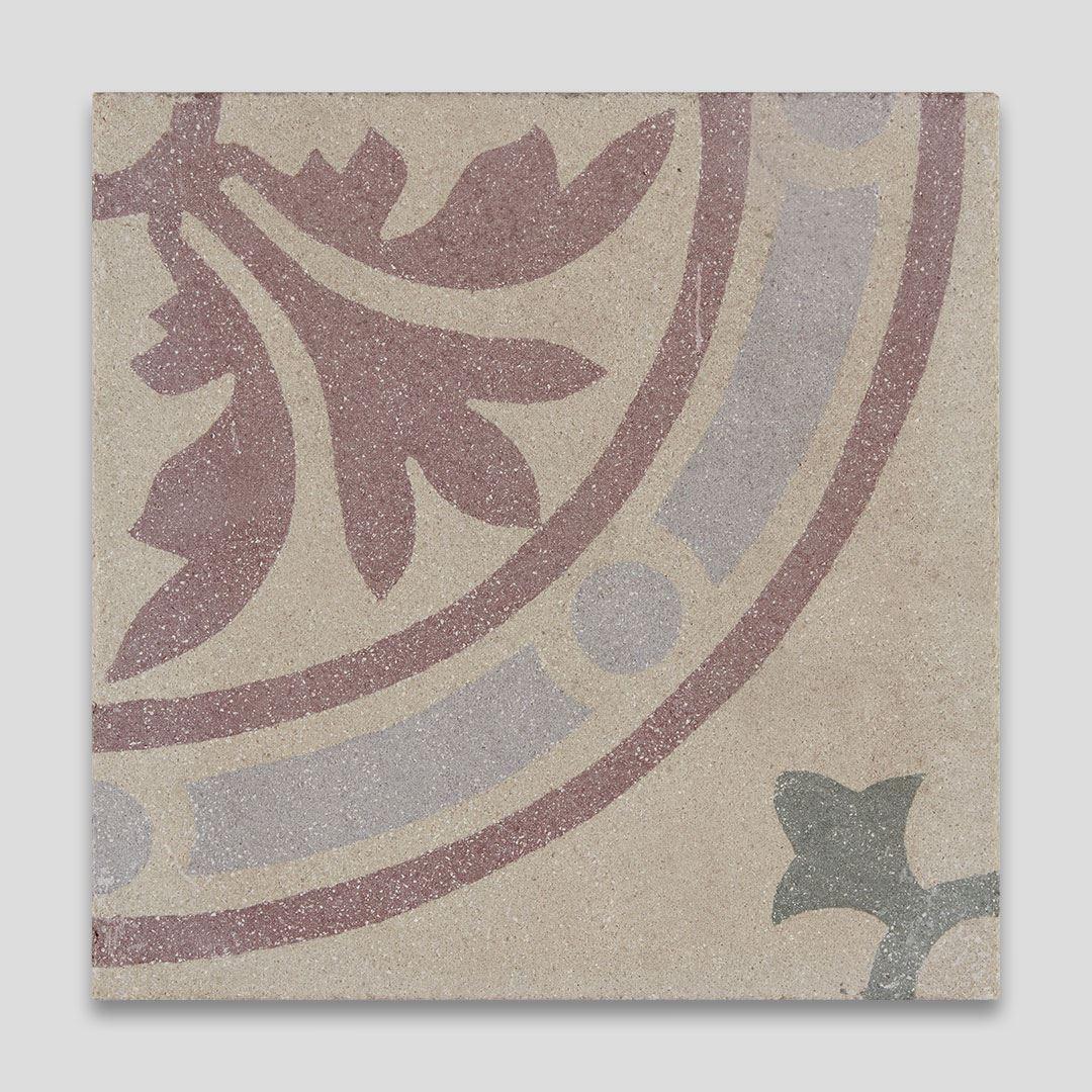 Celestial Flower Encaustic Cement Tile   Otto Tiles & Design