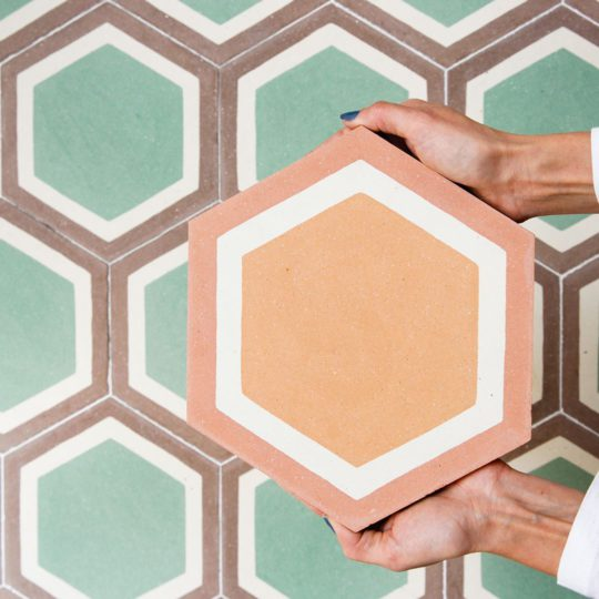 Cordoba Hexagon Encaustic Cement Tile