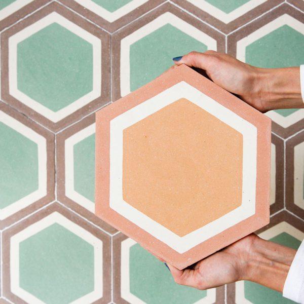 Cordoba Hexagon Encaustic Cement Tile