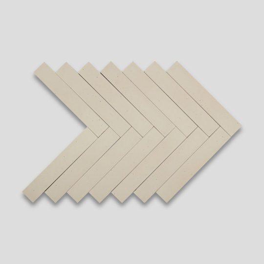 Cream Herringbone Encaustic Cement Tile