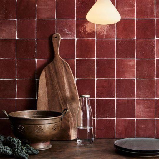 Crimson Zellige Z-29 Tile