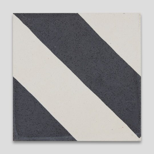 Cross Stripe Black 601 Encaustic Cement Tile