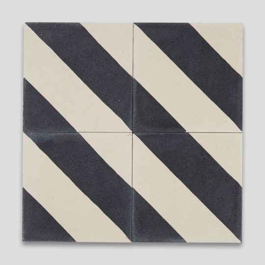 Cross Stripe Black 602 Encaustic Cement Tile