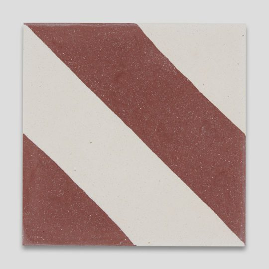 Cross Stripe Burgundy 601 Encaustic Cement Tile