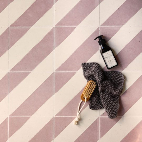 Cross Stripe Pink 602 Encaustic Cement Tile