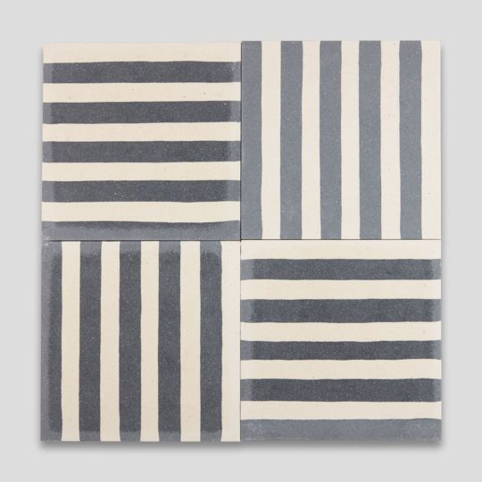 Dark Blue Stripes Encaustic Cement Tile