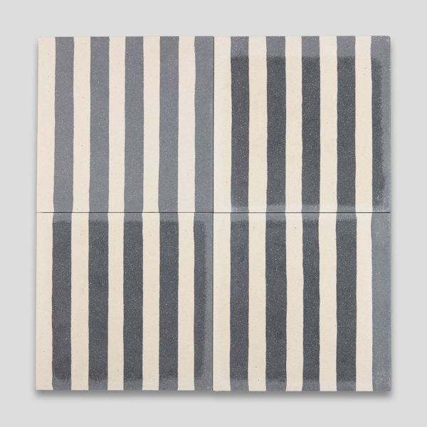 Dark Blue Stripes Encaustic Cement Tile