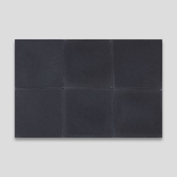 Deep Black Encaustic Cement Tile
