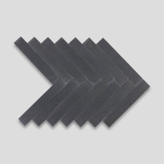 Off Black Herringbone Encaustic Cement Tile