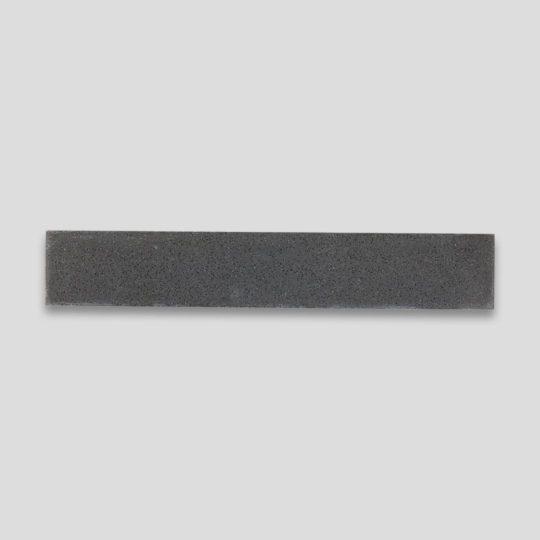 Deep Black Herringbone Encaustic Cement Tile