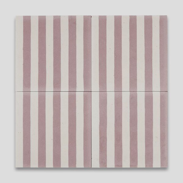 Dirty Pink Stripes Encaustic Cement Tile
