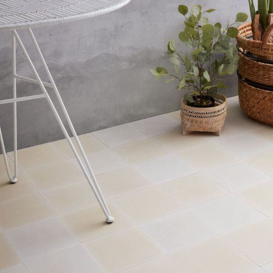 Dirty White Encaustic Cement Tile