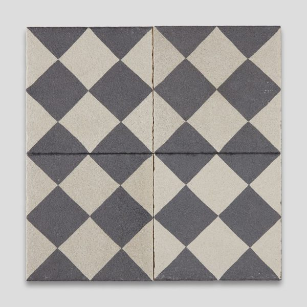 Double Diamond Encaustic Cement Tile