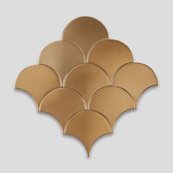 Fish Scale Gold Ceramic Fish Scale Tile