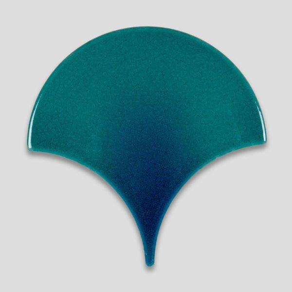 Fish Scale Turquoise Ceramic Fish Scale Tile