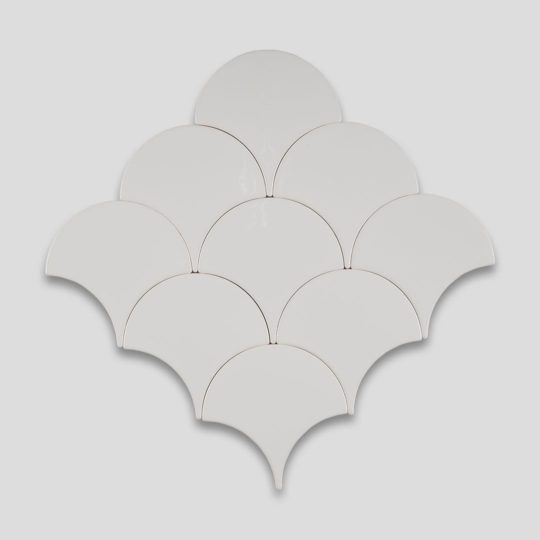 Fish Scale White Ceramic Fish Scale Tile