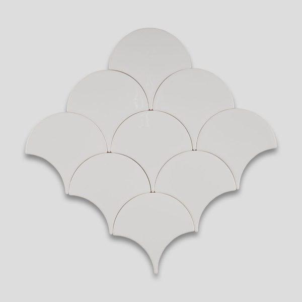 Fish Scale White Ceramic Fish Scale Tile