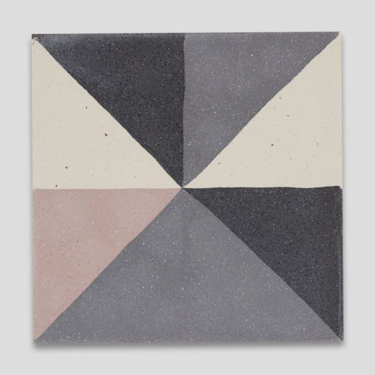 Getting Square Pink Encaustic Cement Tile