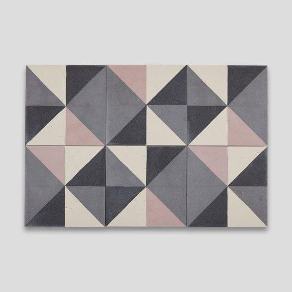 Getting Square Pink Encaustic Cement Tile