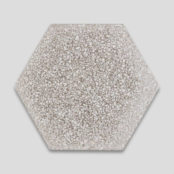 Gray Hex Terrazzo Tile