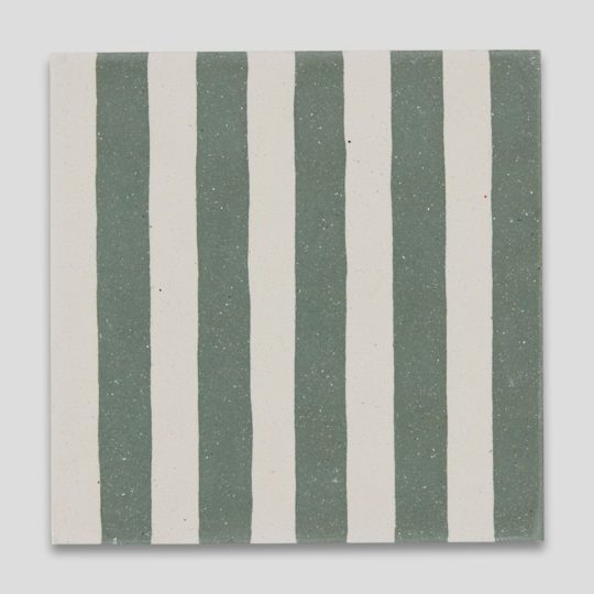 Green Stripes Encaustic Cement Tile