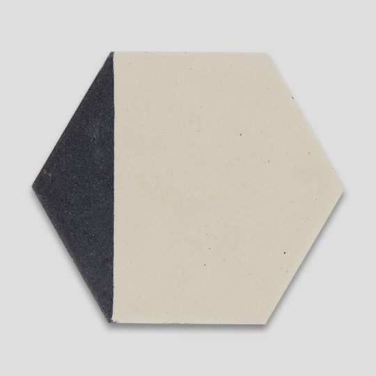 Hex Black Caret 602 Hexagon Encaustic Cement Tile