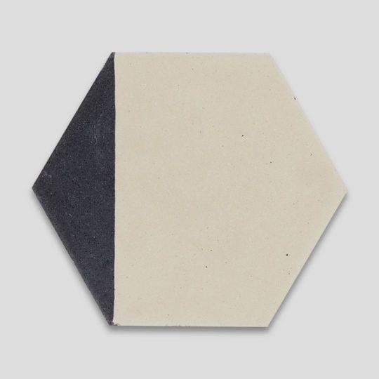 Hex Black Caret 602 Hexagon Encaustic Cement Tile