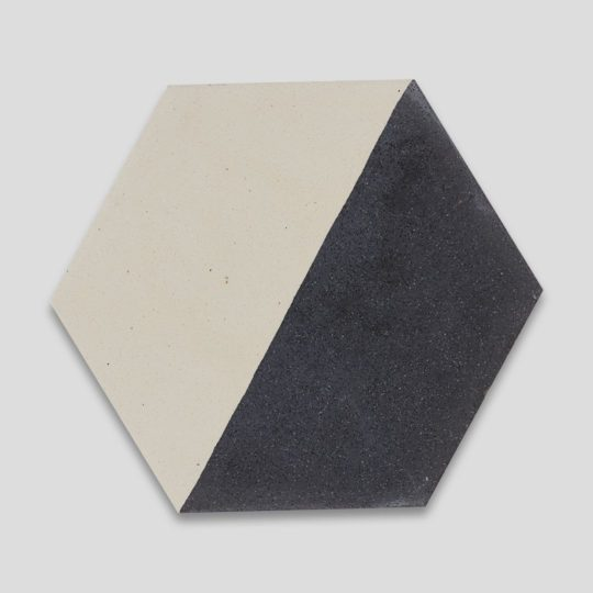 Hex Monochrome 601 Hexagon Encaustic Cement Tile
