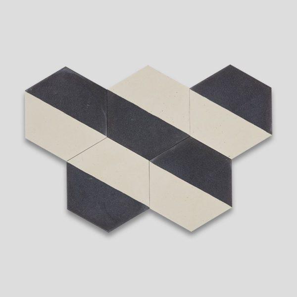Hex Monochrome 601 Hexagon Encaustic Cement Tile