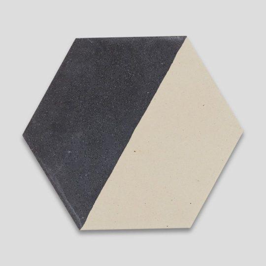 Hex Monochrome 602 Hexagon Encaustic Cement Tile