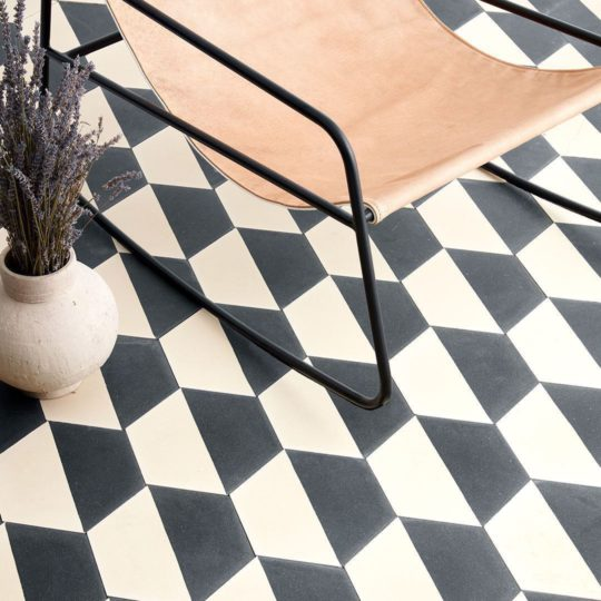 Hex Monochrome 602 Hexagon Encaustic Cement Tile
