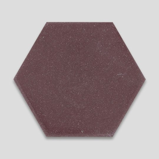 Hex Plain Aubergine Hexagon Encaustic Cement Tile