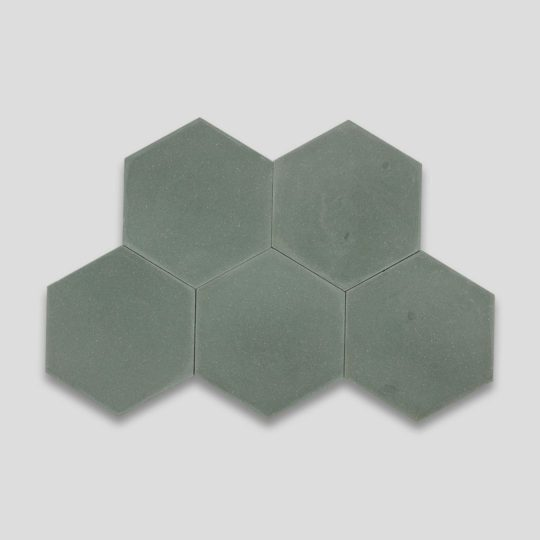 Hex Plain Bosco Hexagon Encaustic Cement Tile