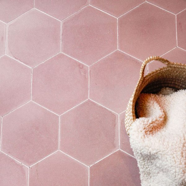 Hex Plain Candy Hexagon Encaustic Cement Tile