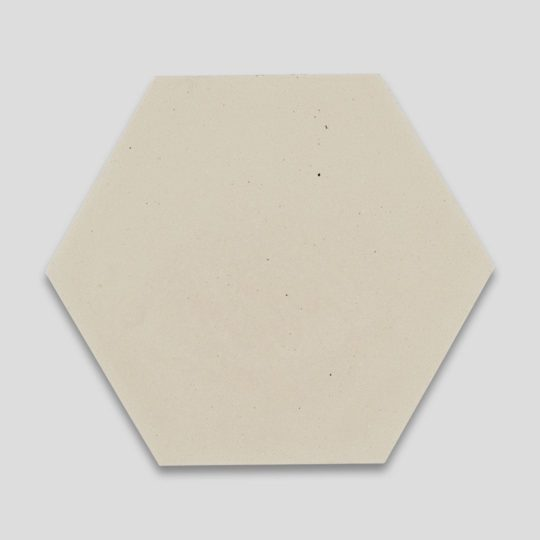 Hex Plain Cream Hexagon Encaustic Cement Tile